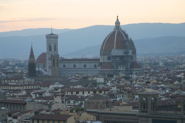 The Duomo as seen from the Piazzale de Michaelangelo