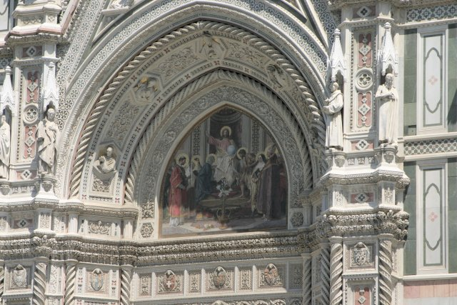 Close-up of the Duomo entrance