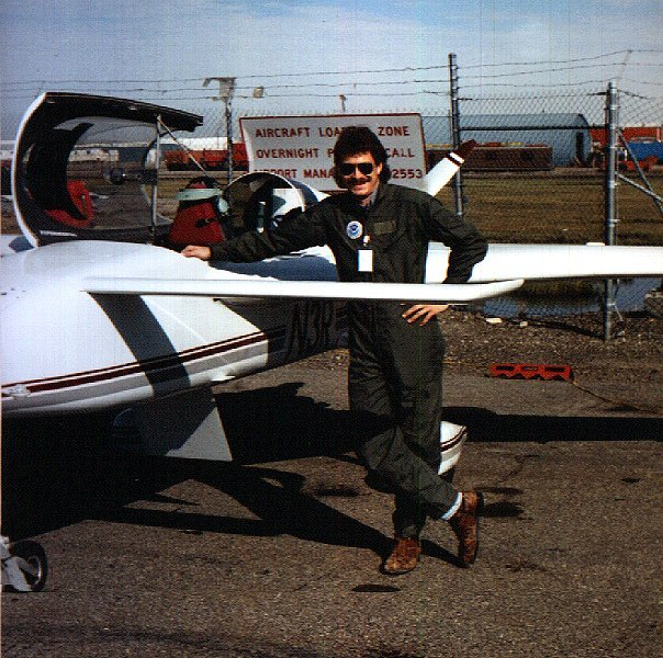 Ed with N3R Long-EZ Research Aircraft circa 1996
