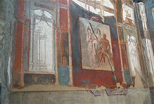 Well-preserved artwork in Ercolano