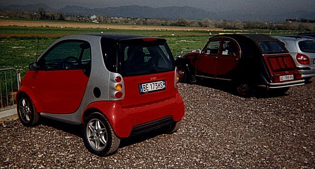 Smart and Citroen cars, Monterotondo, Italy
