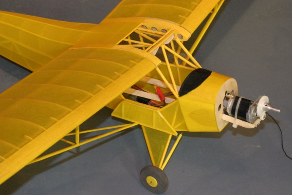 Piper J-3 Cub model, 36 inch wingspan, built from scaled down Bob Nelitz 