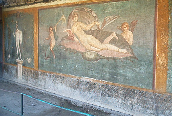 Well-preserved artwork in Pompeii