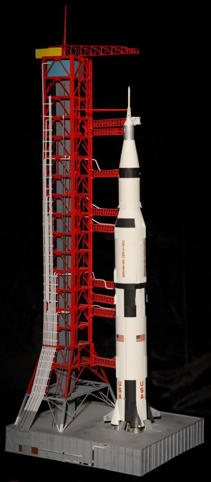 Saturn V with launch tower, 1/144 scale