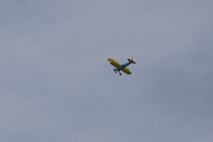 Stearman over Craggy Range Winery