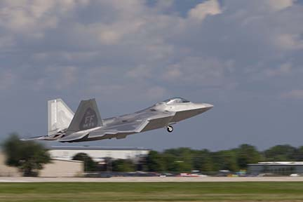 F-22 Raptor at EAA Airventure 2007, Oshkosh, Wisconsin