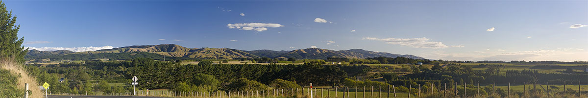 New Zealand Landscape (Palmerston North Panoramic)
