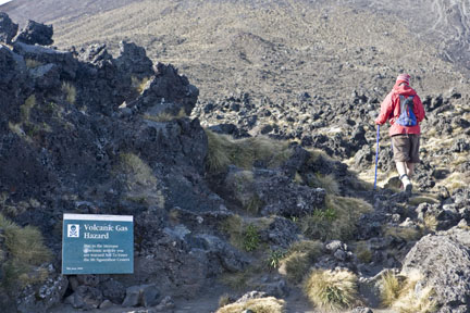 Going for the summit in Tongariro National Park